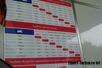Стоимость проезда в Польше