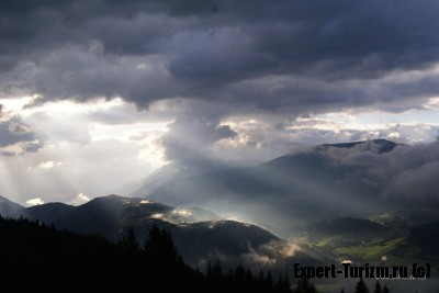 Рассвет в Альпах