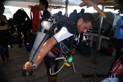 Подготовка к погружению с аквалангом