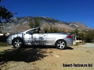 Покат машины на Крите