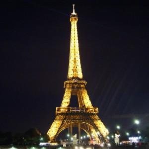 Эйфелева башня, ночь, Париж