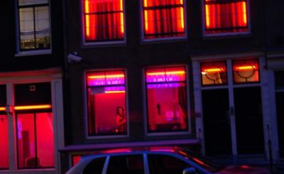 Квартал Красных фонарей,Амстердам, Голландия