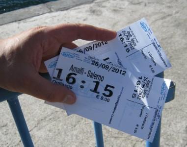 Билет на катер до Амалфи, Италия