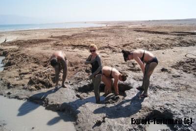 Лечебная грязь СПА Ейн Геди, Мертвое море, Израиль