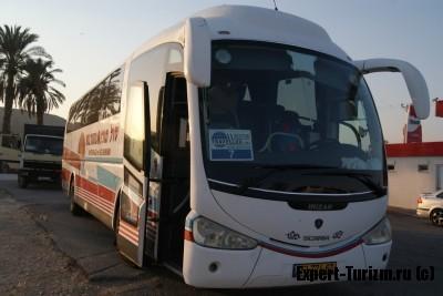 Туристический автобус к Мертвому морю