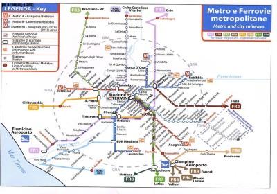 Схема транспорта в Риме