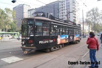 Трамваи в Милане очень шумные