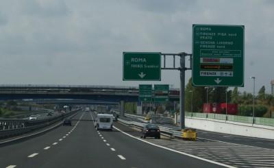 Платная дорога в Италии