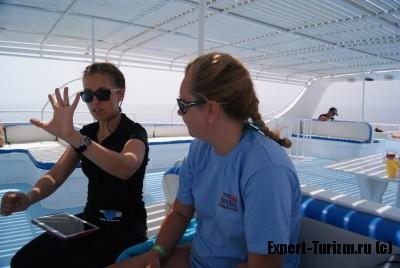Panorama Divers, брифинг на яхте