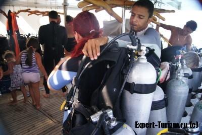 Dive Center White Dolphin, на яхте