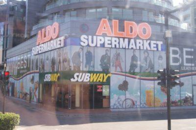 Супермаркет Aldo не далеко от отеля Славянский