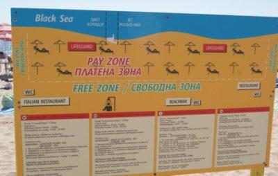 Схема и правила пляжа в Болгарии.