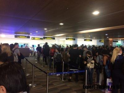 Паспортный контроль в международном аэропорту Пхукет