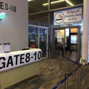 Курилка в международном аэропорту Пхукет