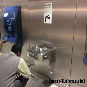 Питьевые фонтанчики аэропорта Афин
